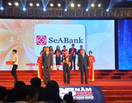 SeABank lần thứ 7 liên tiếp nhận giải thưởng Thương hiệu mạnh Việt Nam