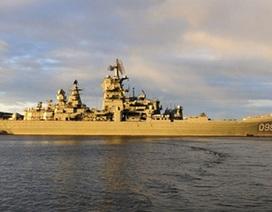 Soái hạm của hạm đội Phương Bắc Nga lần đầu ra biển trong 2 năm qua