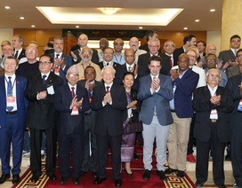 Tổng Bí thư tiếp Trưởng đoàn các đảng dự Cuộc gặp quốc tế các Đảng Cộng sản và công nhân
