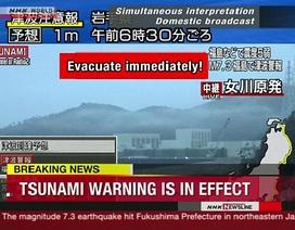 Động đất mạnh 7,3 độ richter rung chuyển Nhật Bản, gây cảnh báo sóng thần