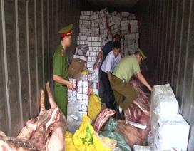 Bắt gần 20 tấn thịt lợn bốc mùi hôi thối