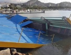 Sập cầu nâng tại địa điểm đua thuyền buồm Olympic 2016