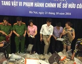 Bộ trưởng Bộ KH&CN yêu cầu xử lý nghiêm vi phạm trong quá trình tiêu hủy tang vật