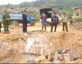 Lào Cai: Tiêu hủy hơn 2 tấn thịt đông lạnh không rõ nguồn gốc