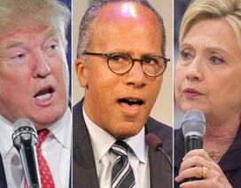 Tỷ phú Trump bất bình vì người dẫn dắt tranh luận thiên vị bà Clinton