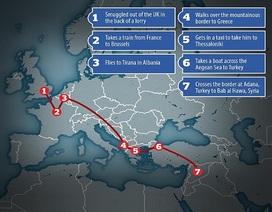"""Chi tiết hành trình dễ dàng đi từ Anh đến Syria của """"John thánh chiến"""""""