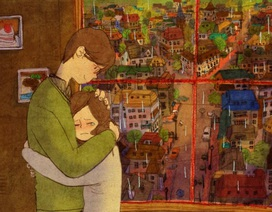 """Lãng mạn bộ tranh """"tình yêu đích thực là gì"""""""