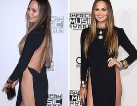 Hai siêu mẫu đọ dáng với váy xuyên thấu, cắt xẻ táo bạo