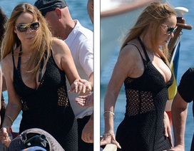 Mariah Carey diện váy gợi cảm sánh đôi cùng hôn phu tỉ phú