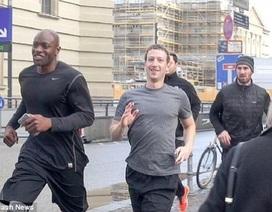 Ông chủ Facebook chạy bộ cùng đội bảo vệ hùng hậu sau khi bị IS đe đoạ đích danh