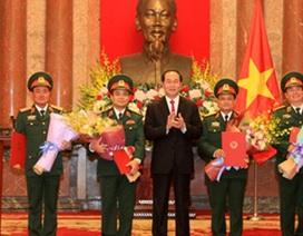 4 sĩ quan quân đội được thăng hàm Thượng tướng