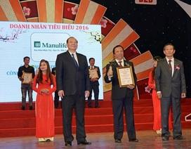 Manulife nhận giải thưởng doanh nhân doanh nghiệp tiêu biểu 2016