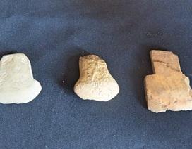 Phát hiện thêm nhiều rìu đá, đồ gốm cổ có niên đại hơn 3000 năm