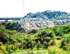 Phạt 120 triệu đồng công ty đổ bột đá tràn ra sông