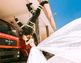 """Bộ ảnh cưới """"cực chất"""" của chàng lính cứu hỏa Đà Nẵng"""