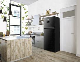 """Bếp """"chất lừ"""" với tủ lạnh đen"""