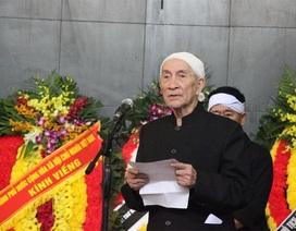 Gia đình cụ Hoàng Thị Minh Hồ hiến tặng toàn bộ tiền phúng viếng