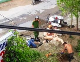 Xe vi phạm bỏ chạy tông vào xe CSGT, 2 người bị thương