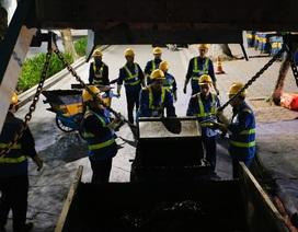 Người lao động giữa đêm đông Hà Nội
