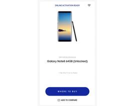 Samsung vô tình hé lộ Galaxy Note8 trên website chính thức