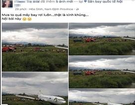 Triệu tập người phụ nữ tung tin máy bay rơi ở Nội Bài