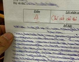 """Bó tay với bài văn lớp 8 chữ xấu... """"hiểu chết liền"""""""