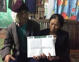 123 triệu đồng đến với 2 đứa trẻ mồ côi sống cùng ông nội ung thư