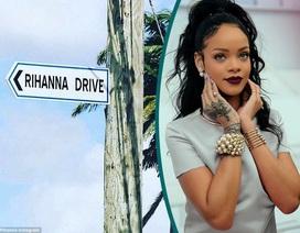 Trên thế giới có con đường tên gọi… Rihanna
