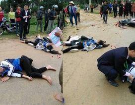 Va chạm với xe biển xanh, 3 nữ sinh bị thương nặng