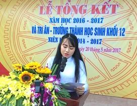Cả trường bật khóc với bài phát biểu tri ân của học sinh trường Phan Bội Châu