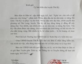 UBND tỉnh Nghệ An chỉ đạo huyện Tân Kỳ làm rõ chợ tiền tỷ để làm sân chơi bóng!