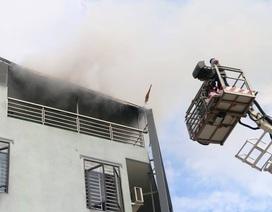 Cháy trên tầng thượng tòa nhà Prudential