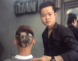 """9X cắt tỉa tóc thành chân dung diễn viên phim """"Người phán xử"""""""