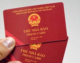 Thu thẻ nhà báo của phóng viên cưỡng đoạt tài sản