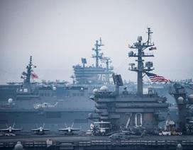 Mỹ điều 2 tàu sân bay tập trận cùng Nhật Bản gần bán đảo Triều Tiên