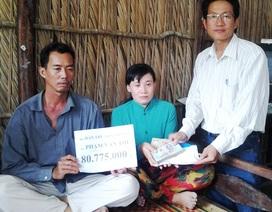 Hơn 80 triệu đồng đến với gia đình anh Phạm Văn Thể