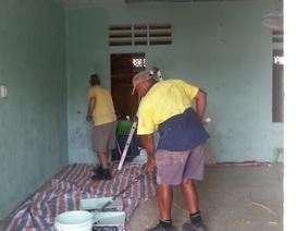 Người Úc sang xây trường cho học sinh vùng lũ Quảng Bình