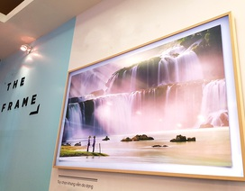 """Cận cảnh TV """"Khung tranh"""" giá 75 triệu đồng của Samsung tại Việt Nam"""