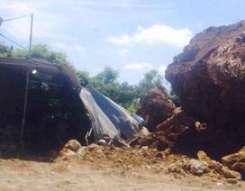 Di dời khẩn cấp hộ dân bị 40 tấn đất đá vùi lấp lán