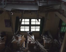 Sập sàn phòng học, 10 học sinh rớt xuống tầng trệt