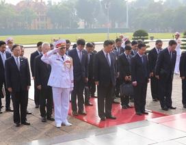 Chủ tịch Trung Quốc Tập Cận Bình vào Lăng viếng Chủ tịch Hồ Chí Minh
