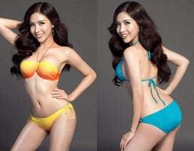 """Khánh Phương khoe đường cong """"đốt mắt"""" trong phần thi bikini"""