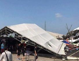 Hàng chục gian hàng tại hội chợ Việt - Trung đổ sập vì lốc xoáy