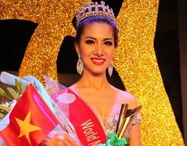 """Nữ tiếp viên hàng không """"ẵm"""" 4 giải tại Hoa hậu quý tộc Thế giới"""