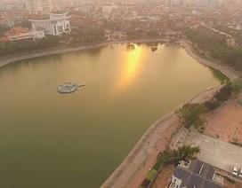 Toàn cảnh hồ Thành Công trước đề xuất cho lấp để xây nhà