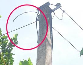 Liều lĩnh cắt đường dây điện chạy qua nhà mình