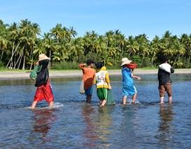 Mưu sinh ngày hè của trẻ em xã đảo Tam Hải