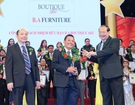 """B.A Furniture được vinh danh trong Top 10 """"Thương hiệu dẫn đầu Việt Nam năm 2017"""""""
