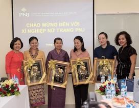 Lãnh đạo nữ cấp cao 3 nước Việt Nam - Lào – Campuchia tham quan hoạt động sản xuất kinh doanh của PNJ