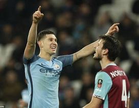 """Man City vùi dập West Ham với tỷ số """"một bàn tay"""""""